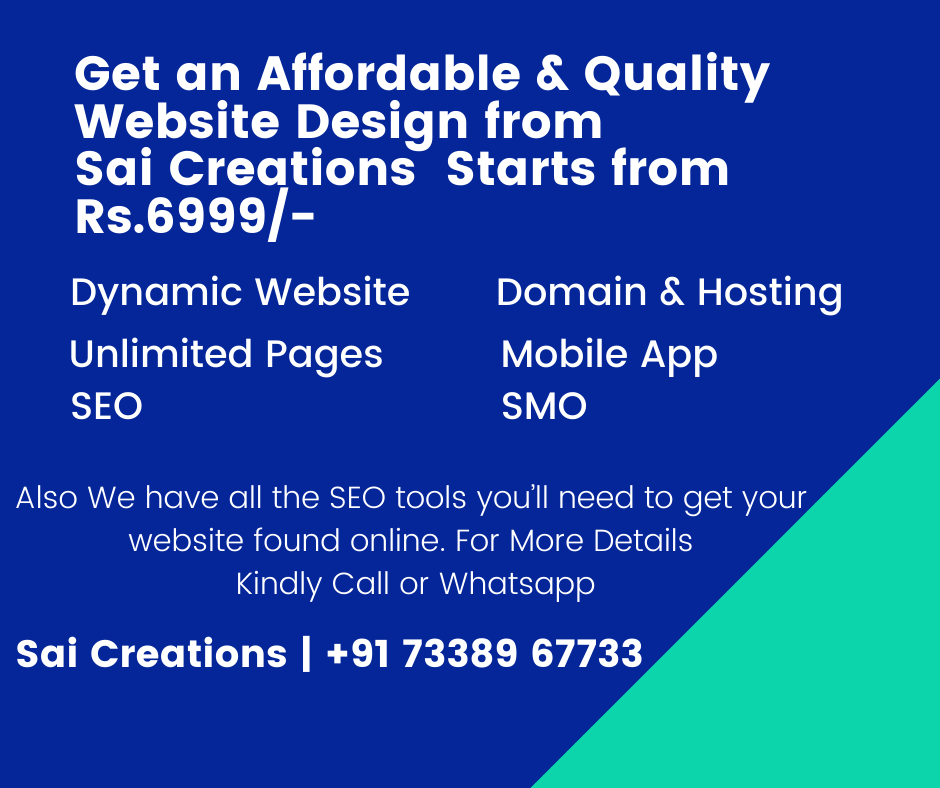 Dynamic Website Starts from Rs.6999/-