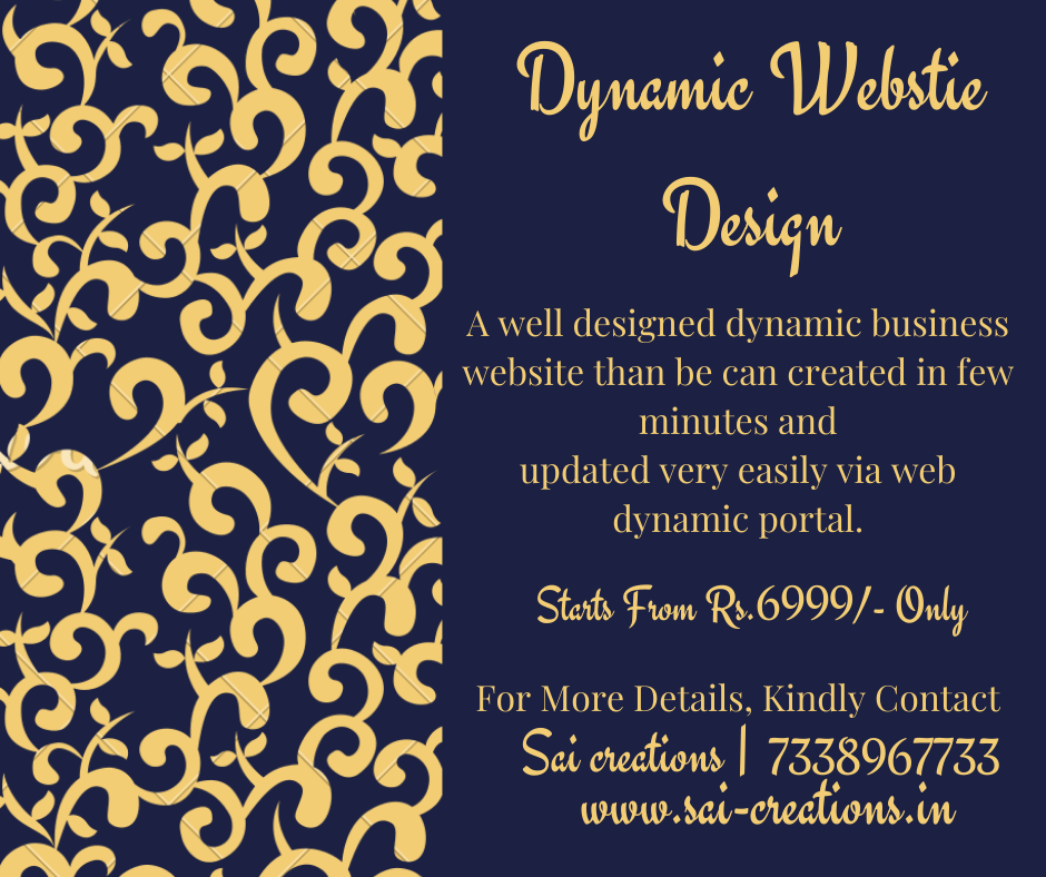 Get your Dynamic Websites from just Rs.6999/-