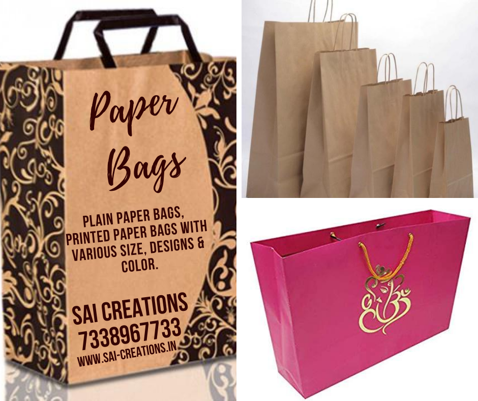 Paper Bags with Various Size, Colour & Design @ Wholesale Price