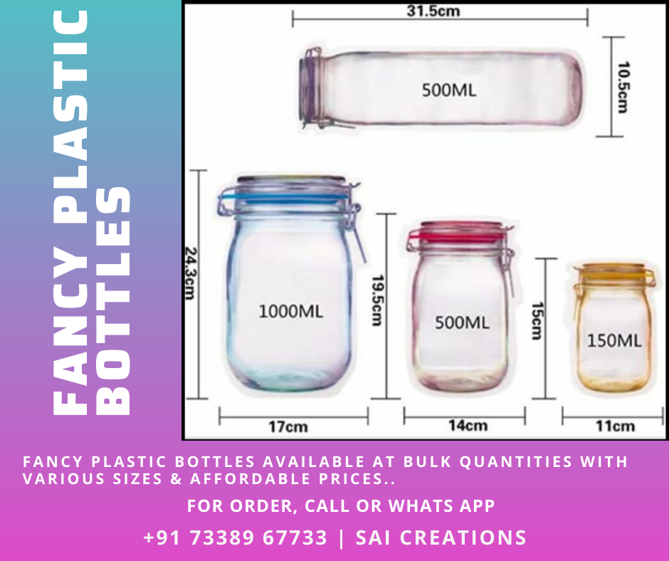 Fancy Plastic Bottles Available at Bulk Quantities With Various Sizes & Affordable Prices..