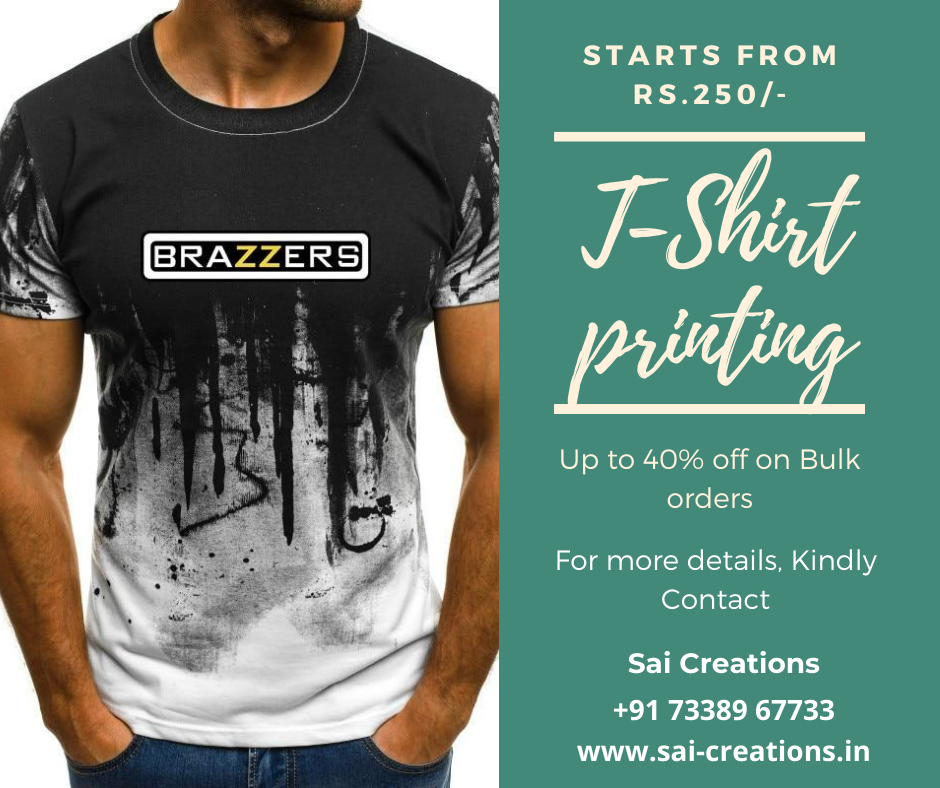 T-Shirt Printing Starting from just Rs.250/-