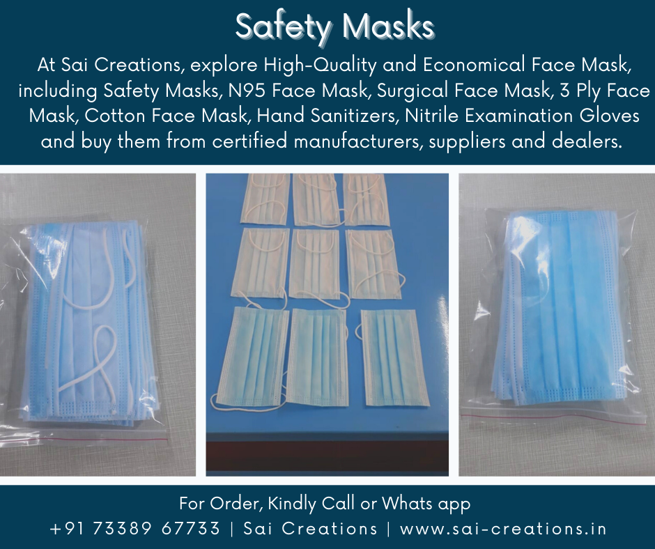 Safety Face Masks @ Affordable Prices