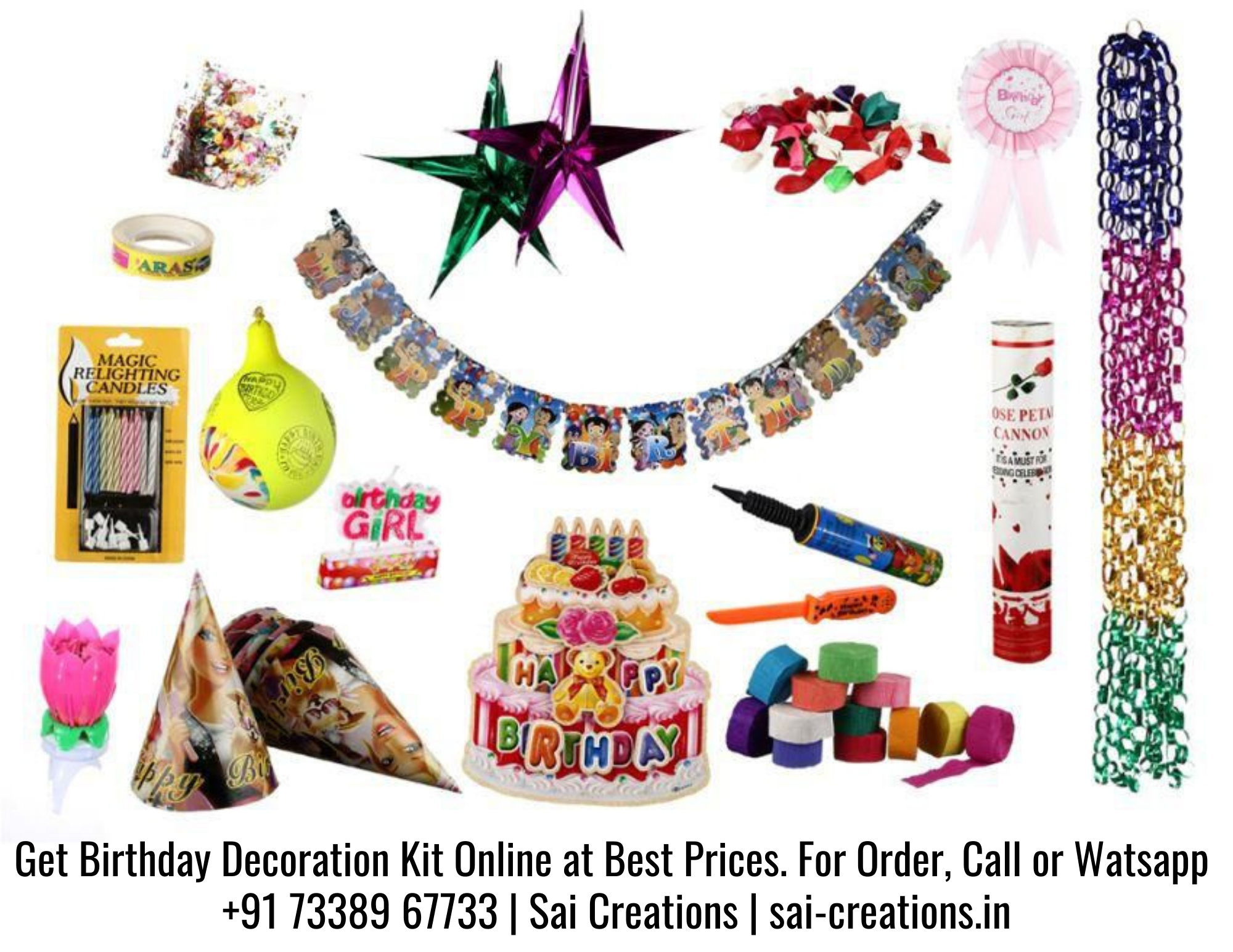 Birthday Decoration Kit at Best Prices