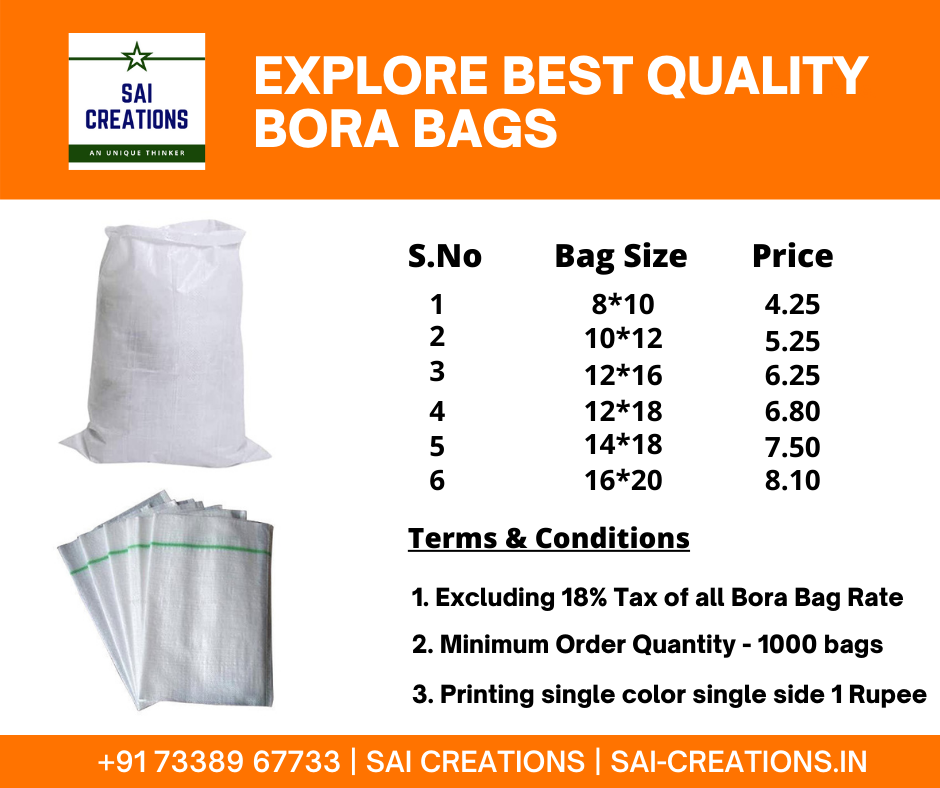 Bora Bags Price List