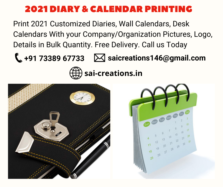 2021 Customized Diary & Calendar Printing