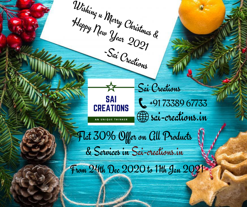 Christmas & New Year Offer on All Products @ 30% Offer Rate