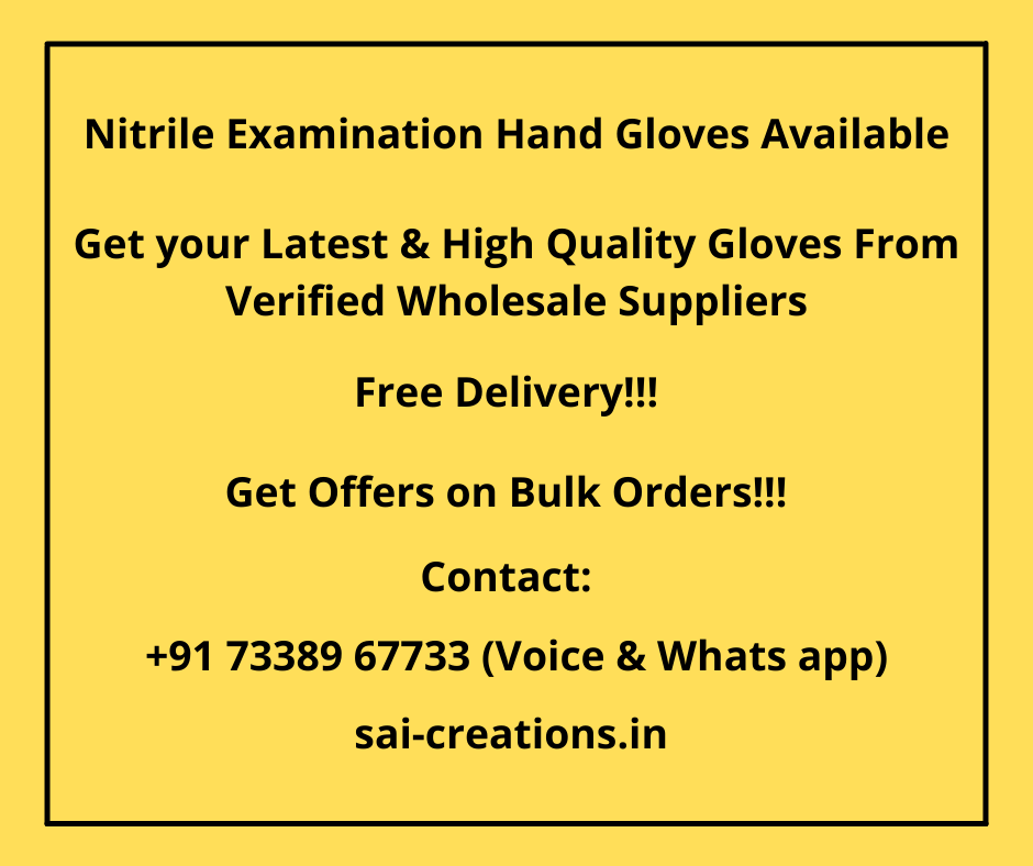 Nitrile Examination Hand Gloves