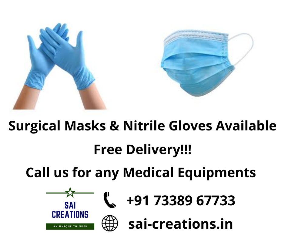 Nitrile Gloves & Surgical Masks Available..