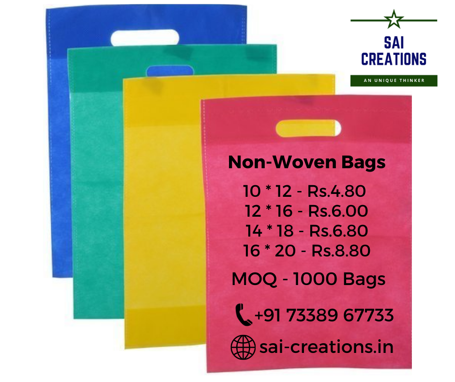 Non - Woven Bags with Printing - Starts from Rs.4/-