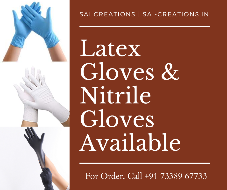 Nitrile and Latex gloves | Sai Creations