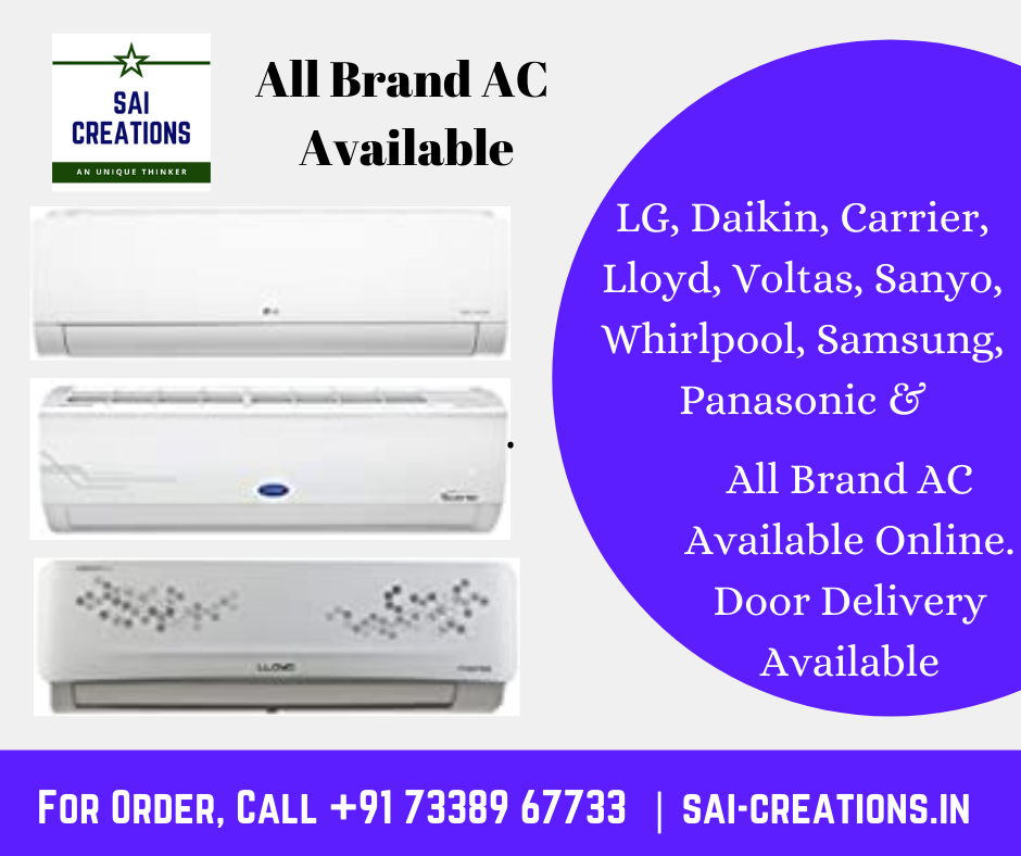 All Brand AC Available Online with Door Delivery